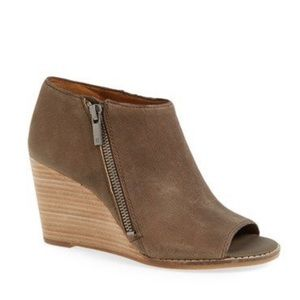 Lucky Brand Jaspah Peep Toe Wedge Booties